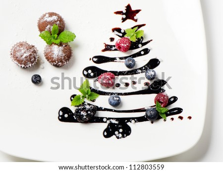 cupcakes  and sweet  christmas