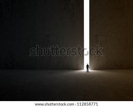 a lonely person walking through