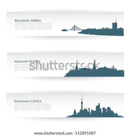 banners with city skylines