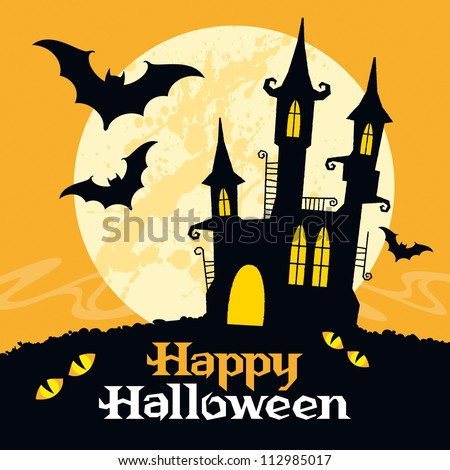 halloween vector card vector