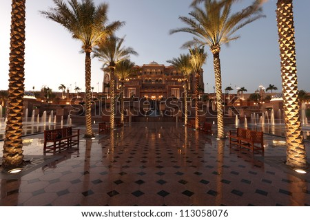 the emirates palace in abu