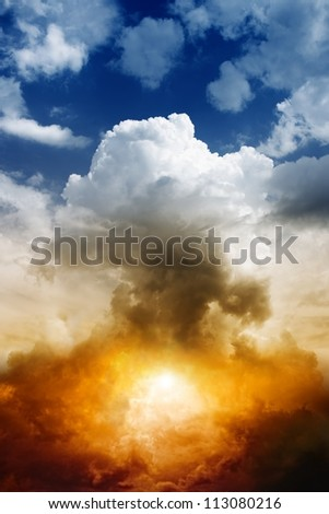 mushroom cloud from nuclear
