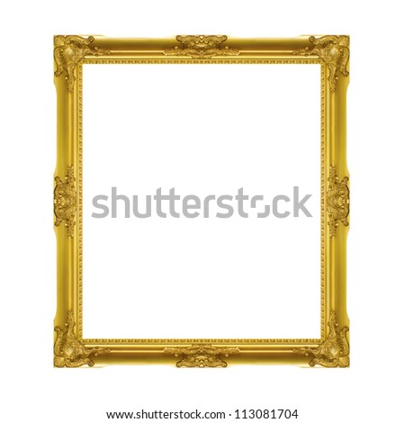 golden frame isolated on the
