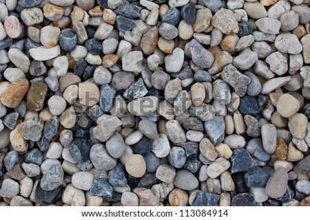 texture pebbles with various