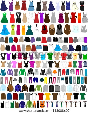 large set of clothes for men