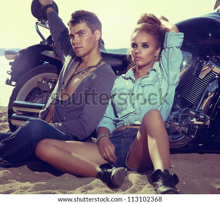 two people and bike   fashion