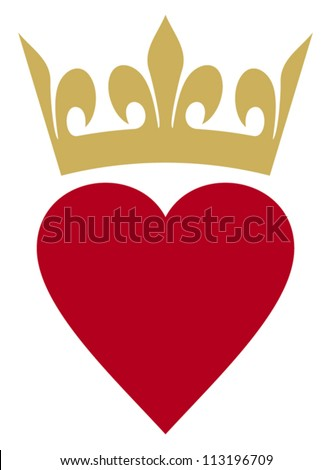 heart with crown  heart and