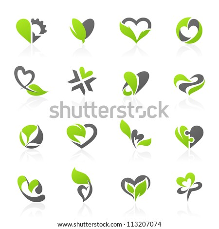 eco themed design elements in