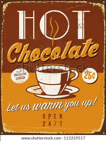 vintage metal sign   hot