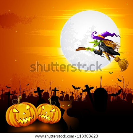 vector illustration of witch