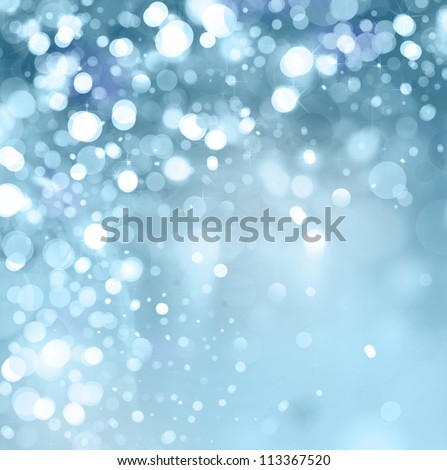 lights on blue background