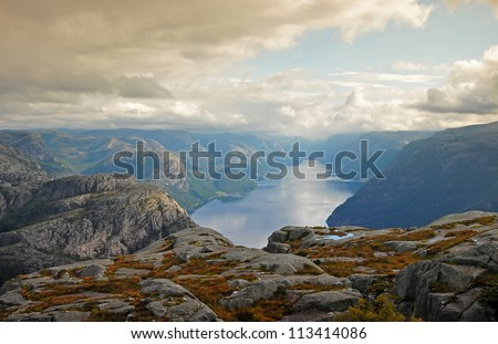 the trail to preikestolen