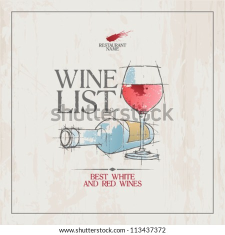 wine list menu card design