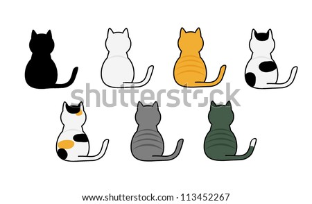 vector of cute cats