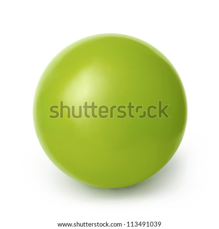 green ball isolated on a white