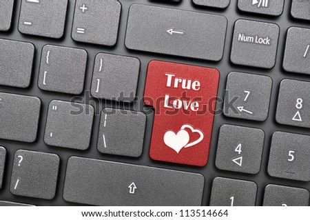 true love on keyboard