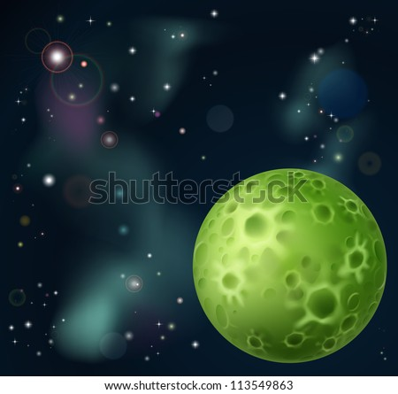 an outer space cartoon