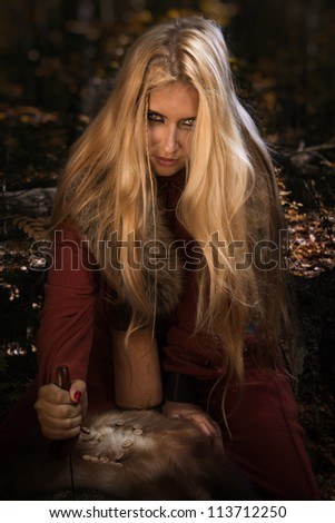 scandinavian witch pythoness
