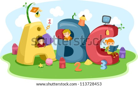 illustration of kids playing