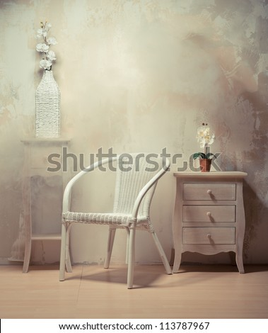 interior design of room with