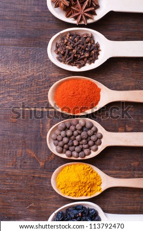 background with spices  ...