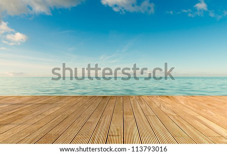 beautiful seascape with empty