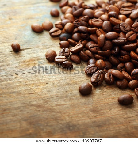coffee on grunge wooden