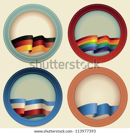 abstract vector round frames