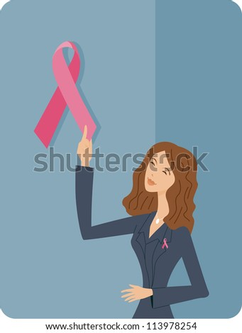 a woman holding a large pink