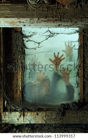 photo of zombies outside a