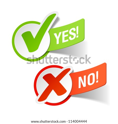 yes and no check marks vector