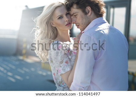 young couple loving each other