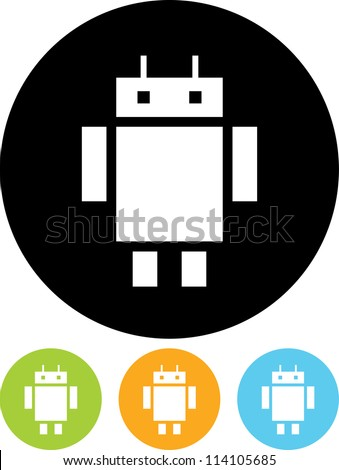 robot android funny cartoon