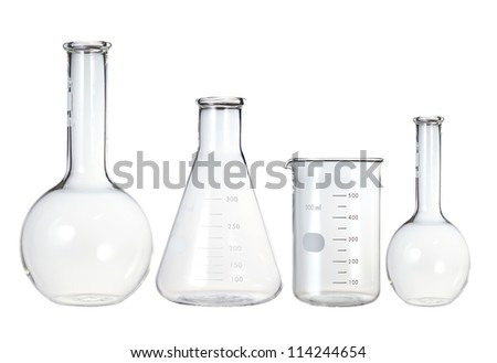 test tubes isolated on white
