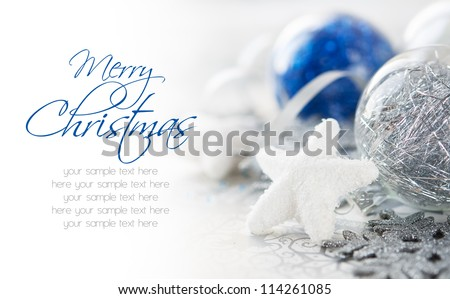 blue and silver xmas decoration