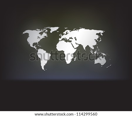 stylish white world map on a