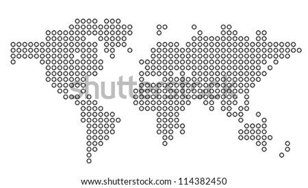dotted world map vector