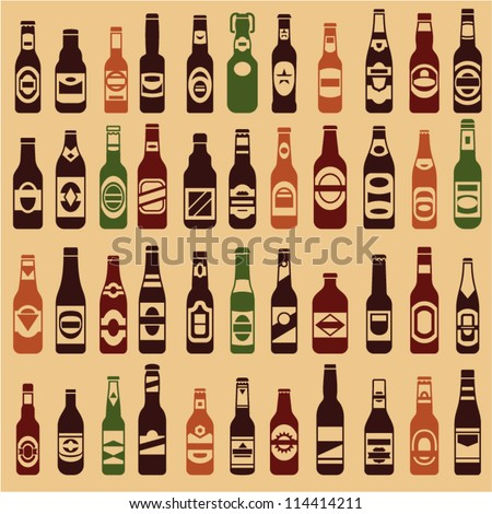 beer bottles vector collection
