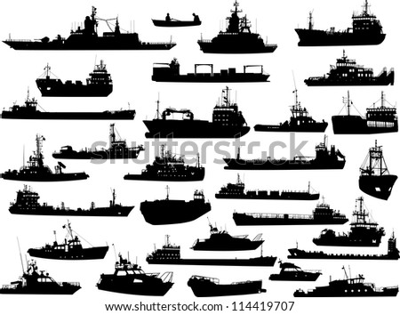 set of 30  thirty  silhouettes