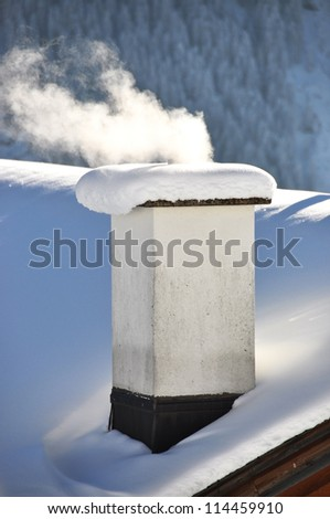 smoking chimney of a swiss