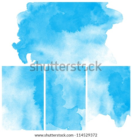 set of abstract blue water