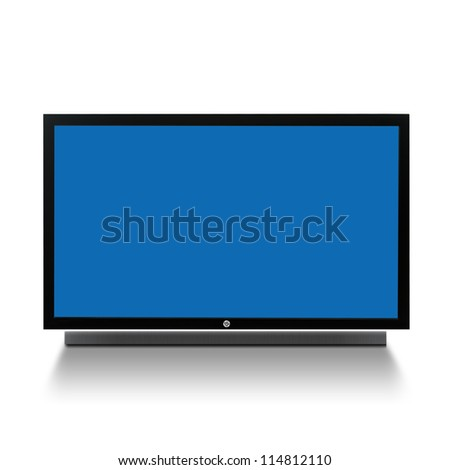 3d tv on white background