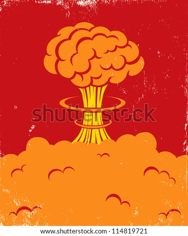 illustration of a strong blast