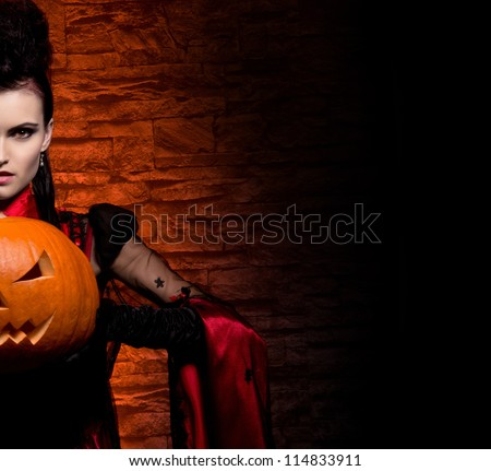 halloween concept  young and