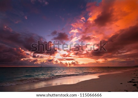 sunrise at the beach