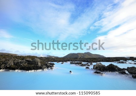 the famous blue lagoon near