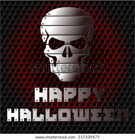 halloween background with iron