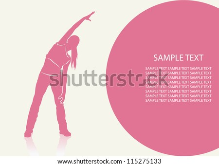 aerobics background   vector