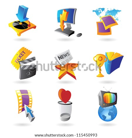icons for media  information