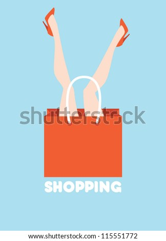 woman shopping funny poster